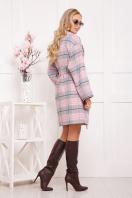 клетчатое пальто прямого кроя. пальто П-300-90. Цвет: 1703 цена