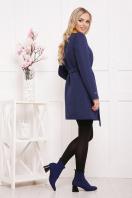 черное пальто на весну. пальто П-337. Цвет: т.синий горох купить