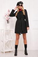 женское пальто цвета электрик. пальто П-337. Цвет: черный цветок купить