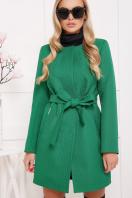 черное пальто на весну. пальто П-337. Цвет: зеленый горох купить