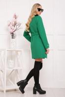 черное пальто на весну. пальто П-337. Цвет: зеленый горох цена