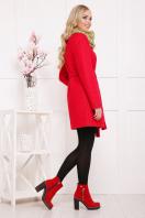красное пальто без воротника. пальто П-337ш. Цвет: 1201 цена