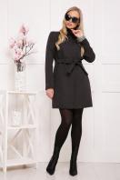 черное пальто на весну. пальто П-337. Цвет: черный горох купить