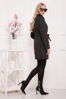 черное пальто на весну. пальто П-337. Цвет: черный горох цена