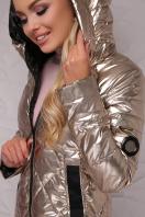 золотистая куртка с капюшоном. Куртка 18-28. Цвет: золотой цена