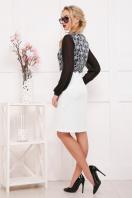 трикотажное платье с рукавами из шифона. Кружево черное платье Лерина д/р. Цвет: принт купить