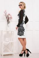 черно-белое платье с шифоновыми рукавами. Розы-кружево платье Лерина д/р. Цвет: принт купить