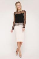 черная блузка в горошек. блуза Амалия д/р. Цвет: черный купить