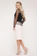 черная блузка в горошек. блуза Амалия д/р. Цвет: черный цена