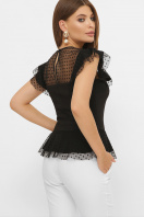 черная блузка с баской. блуза Лайза б/р. Цвет: черный цена