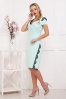 мятное платье с кружевом. платье Светла к/р. Цвет: мята купить
