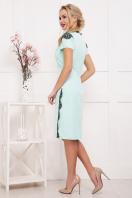 мятное платье с кружевом. платье Светла к/р. Цвет: мята цена