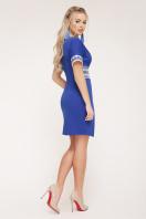 синее платье с орнаментом. Этно-украинский платье Аурика-П д/р. Цвет: электрик цена