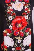 платье-трапеция с цветами. Букет маки платье Тая-3КК д/р. Цвет: принт купить