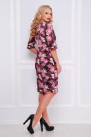 бордовое платье с принтом. Аисты платье Руслана-Б КД к/р. Цвет: бордовый купить