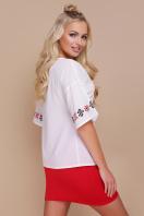 свободная блузка с принтом. Орнамент красный блуза Мирана к/р. Цвет: принт цена