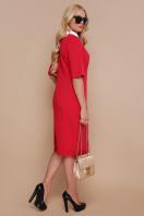 черное офисное платье. платье Ундина-Б 3/4. Цвет: красный купить