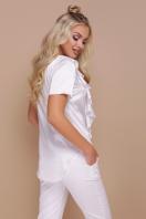 мятная блузка с коротким рукавом. блуза Сиена к/р. Цвет: белый купить