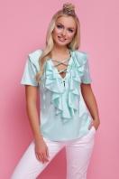 мятная блузка с коротким рукавом. блуза Сиена к/р. Цвет: мята купить