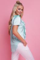 мятная блузка с коротким рукавом. блуза Сиена к/р. Цвет: мята цена