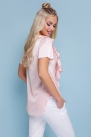 нарядная персиковая блузка. блуза Сиена к/р. Цвет: персик цена