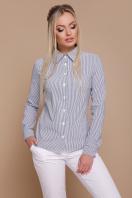 полосатая рубашка с длинным рукавом. блуза Рубьера д/р. Цвет: серая м. полоска купить
