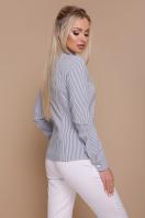 серая рубашка в полоску. блуза Рубьера д/р. Цвет: серая м. полоска цена