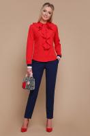 синяя блузка с воланами. блуза Бриана д/р. Цвет: красный купить