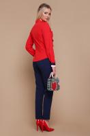 синяя блузка с воланами. блуза Бриана д/р. Цвет: красный цена