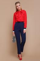 синяя блузка с воланами. блуза Бриана д/р. Цвет: красный в интернет-магазине