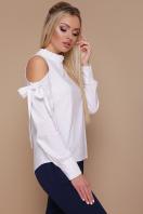 белая блузка с вырезами на плечах. блуза Варвара д/р. Цвет: белый купить