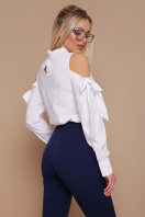 белая блузка с вырезами на плечах. блуза Варвара д/р. Цвет: белый цена