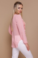 мятная шифоновая блузка. блуза Сиена д/р. Цвет: персик цена