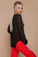 мятная шифоновая блузка. блуза Сиена д/р. Цвет: черный купить