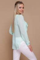 мятная шифоновая блузка. блуза Сиена д/р. Цвет: мята купить