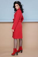классическое пальто сливового цвета. пальто П-316-100. Цвет: 1008-коралл цена