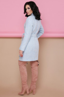 бирюзовое пальто с поясом. пальто П-308. Цвет: 1215-св.голубой цена