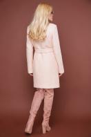 бирюзовое пальто с поясом. пальто П-308. Цвет: 1218-бежевый цена