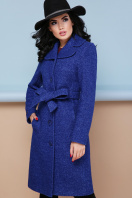 бордовое пальто с английским воротником. пальто П-319. Цвет: 1303-синий купить