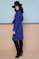 бордовое пальто с английским воротником. пальто П-319. Цвет: 1303-синий в интернет-магазине