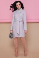 бирюзовое пальто с поясом. пальто П-308. Цвет: 1209-розовый купить