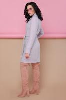бирюзовое пальто с поясом. пальто П-308. Цвет: 1209-розовый цена