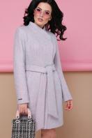 бирюзовое пальто с поясом. пальто П-308. Цвет: 1209-розовый в интернет-магазине