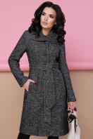 бордовое пальто с английским воротником. пальто П-319. Цвет: 1301-т.серый цена