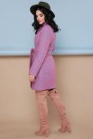 бирюзовое пальто с поясом. пальто П-308. Цвет: 1213-персик в интернет-магазине