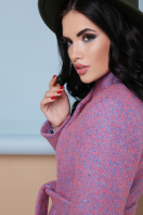 бирюзовое пальто с поясом. пальто П-308. Цвет: 1213-персик в Украине