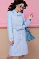 бордовое пальто с английским воротником. пальто П-319. Цвет: 1308-голубой цена