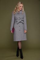 бордовое пальто с английским воротником. пальто П-319. Цвет: 1309-серый купить