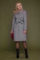 бордовое пальто с английским воротником. пальто П-319. Цвет: 1309-серый цена