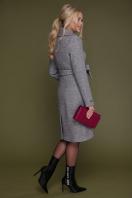 бордовое пальто с английским воротником. пальто П-319. Цвет: 1309-серый в интернет-магазине